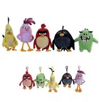 """Angry Birds Movie 12"""" Soft Toy Large Plush Bag Clips Official Key Ring Chain New"""