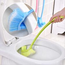 Us Toilet Brush Plastic Long Handle Bathroom Scrub Double Sided Cleaning Brush