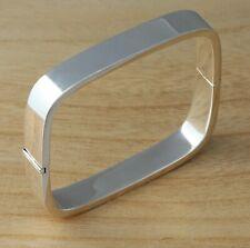 Massiver 925 Sterling Silber Square Armreif Armband uni 10mm Heavy UK geprägt