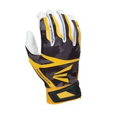 Adult Easton Z7 Hyperskin Softball Baseball Batting Gloves Black Yellow White