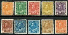 1922 Canada SG246-255 Set of 10 Fine to Superb Mostly V/L M/M Cat. £130.00