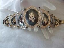 Vintage Siam Filigree Sterling Silver Large Bracelet