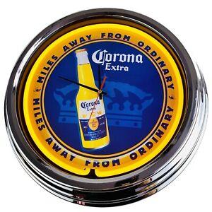 """N-0232 Wanduhr """"Corona"""" Deko Neonuhr Esszimmer Küche Wohnzimmer Büro Uhr"""