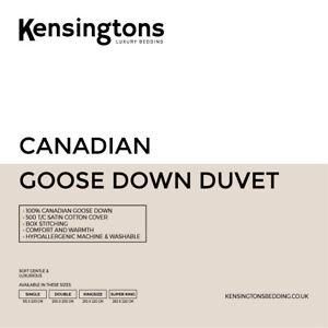 Luxury 100% Pure Canadian Goose Down Duvet by Kensingtons®