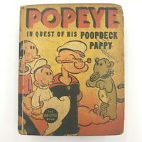 Vintage 1937 Popeye in Quest of His Poopdeck Pappy 1450 Big Little Book BK2