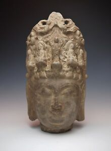 MUSEUM QUALITY CHINESE STONE GUANYIN STATUE Ming Dynasty Antique Carved Kwan Yin