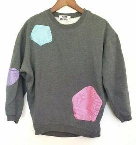 ACNE STUDIOS Ladies Designer Grey Long Sleeve Pullover Jumper size XS EUC
