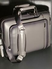 NWT Tumi Arrive Exclusive Hannover Slim Leather Briefcase Bag Grey $1100