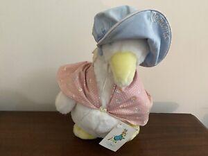 Eden Toys ~ Jemima Puddle Duck 1986 Beatrix Potter Plush Vintage With Tags