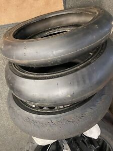 BRIDGESTONE BATTLAX RACING SLICK RACE  TYRES 3x Tyres
