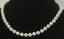 8MM Bright Super South Sea Shell Pearl Necklace NEW (in a gift bag)