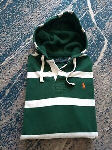Polo Ralph Lauren M Mens Green White Hoodie Sweatshirt