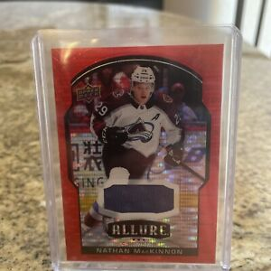 Nathan MacKinnon 2020-21 UD Allure Red Rainbow Jersey Patch SSP !!
