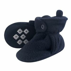 Little Treasure Boy Baby Fleece Booties, Navy