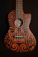 Luna Tribal Concert Acoustic Electric Ukulele w/ Gig Bag - Free Shipping!