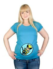 Maternity S-XXL Tiny Wolvie X Man Superhero Baby Shower Gift Cotton Top T-Shirt