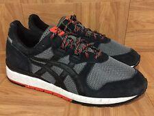 RARE🔥 Asics Gel Epirus Black Gray Orange Leather Running Shoes Sz 10 H5A0Q NICE