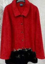 ( Ref 268 ) Dash - Size 10 - Red, Blue & Green Long Sleeve Fleece Jacket / Top