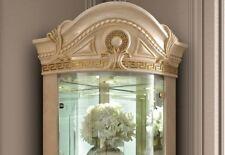 Exklusive Eckvitrine 1-türig Stilmöbel Italien Elfenbein Farbe Elegante Möbel