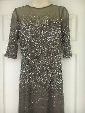 Adrianna Papell Collection Formal Dress Size 4 - Sequin & Mesh 3/4 Length Sleeve