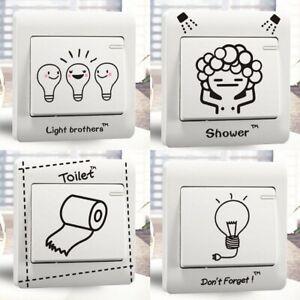 Karikatur Aufkleber Lichtschalter Sticker Wandtattoo Steckdose Fun Küche Bad