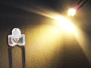10 Stück LED 1,8mm warmweiß 6000mcd superhell warm weiß