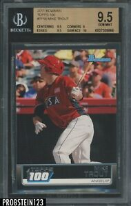 2011 Bowman Top 100 Mike Trout Angels RC Rookie BGS 9.5 w/ 10