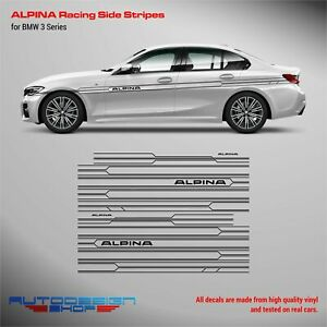 ALPINA Racing Side Stripes decals Set for BMW 3 series /4 series