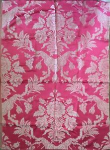 19th Century French Floral Damask Silk Woven