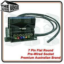 7 Pin Trailer Plug Pre Wired Flat Trailer Cable LED Tester Australian 82141