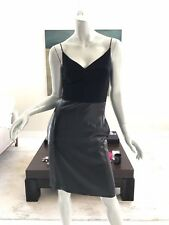 NWT NARCISO RODRIGUEZ BLACK SHIMMER COCKTAIL DRESS SIZE IT 38 US 2 GB 6 FR 34