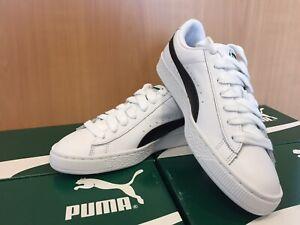 PUMA Basket Classic LFS Sneaker Echtleder Weiß / Schwarz Gr. 41 Neu