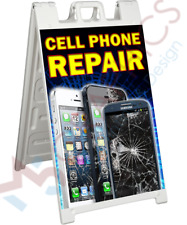 New listing Cell Phone Repair Signicade 2 Sided A-Frame Sign Sidewalk Store Street Sign Aa02