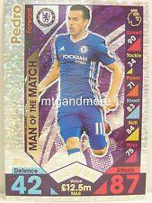 Match Attax 2016/17 Premier League -  MA8 Pedro - Man of the Match