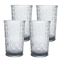 Cameo Double Old Fashioned Glass, Tumbler, cap 10 oz, Smoke Gray, set of 4