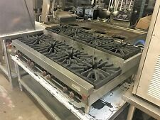 "48"" Wolf Table Top 8 Burner Hot Plate STOCK POT BI LEVEL HEAVY DUTY CLEAN Cheap"