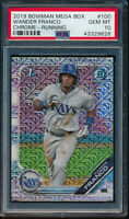 PSA 10 WANDER FRANCO 1st 2019 Bowman Chrome Mega Box Mojo Refractor RC GEM MINT