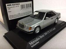 1/43 MINICHAMPS 1990 MERCEDES BENZ A124 C124 300CE 24V COUPE SILVER model car