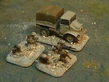 Painted Flames of War British Motor Company HQ (15 Cwt, 3man cmd, 2man mortar)