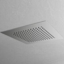 Soffione doccia ad Incasso quadrato 35x35 in acciaio inox spessore 2 mm completo