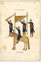 Antique Print-SOLDIERS-SPANISH-11TH CENTURY-CAVALRY-Anonymous-c.1860