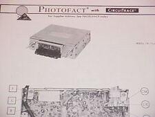 1974 PANASONIC AM-FM-MPX RADIO SERVICE MANUAL CR-714EU CHEVROLET FORD DODGE