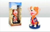 Royal British Bulldog Commemorative Union Jack Bobble Head Resin Figure Ornament
