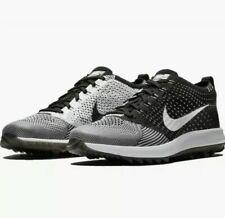 Nike Flyknit Racer G Golf Shoes Oreo Black White 909756-001 Men's Size 10