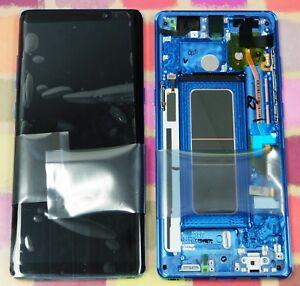 GENUINE BLUE SAMSUNG SM-N950F GALAXY NOTE 8 SCREEN AMOLED 2k LCD FRAME DISPLAY