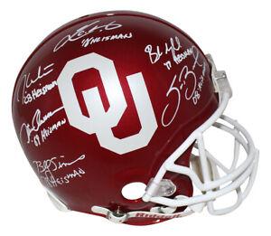 Oklahoma Sooners Heisman Winners Autographed Authentic Helmet BAS 31121