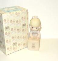 Precious Moments SHARING IS UNIVERSAL E-0007 Figurine girl tree