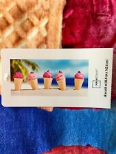 """Mainstays BEACH TOWEL Ice Cream Cones in the Sand 34"""" X 64"""" NEW WITH TAGS"""