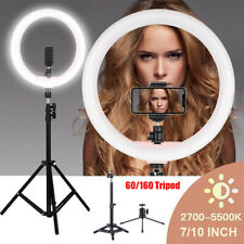 LED Ring Licht Dimmbare 6500K Ring Light mit Stand für Makeup Kamera Phone DHL