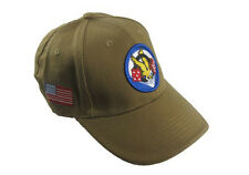 Khaki US 506th Parachute Infantry Baseball Cap - Peak Sun Hat Army Military New